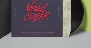 Illustrative Vinyl Record Cover Mockup