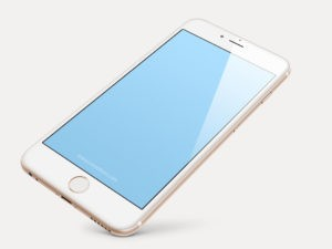 iPhone Gold/White with Plain Background
