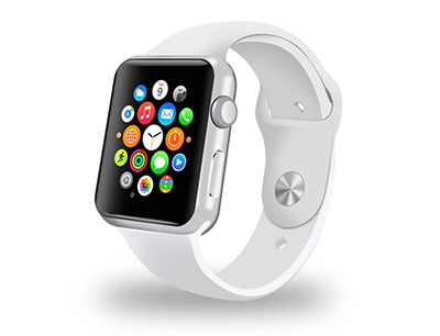 Personalised White Apple Watch