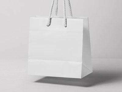 Flying Shopping Bag Cover Mockup
