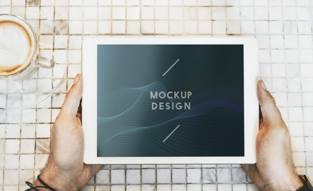 White Tablet Mockup
