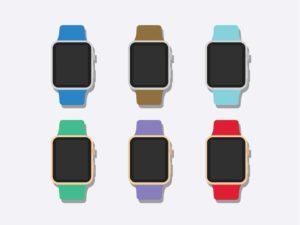 White Apple Watch Mockup