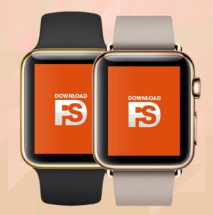 Gold Apple Watch Mockup