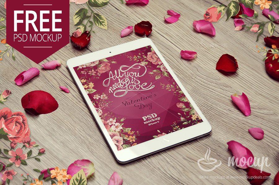 Valentines iPad Mockup