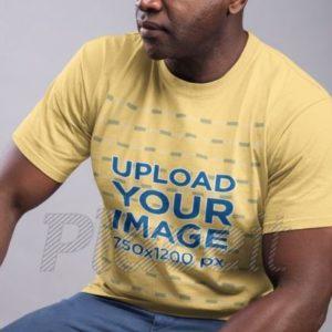 Fit Man T-Shirt Mockup