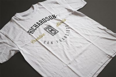 Black and White T-shirt Mockup