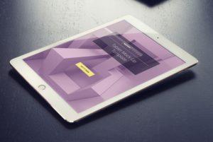 Wooden iPad Mockup