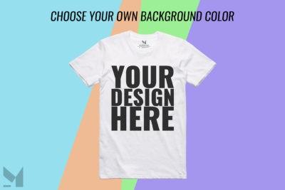 Realistic White T-Shirt Mockup