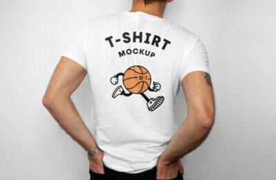 Simple Backside of A Tshirt Mockup