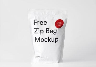 Zip Bag Mockup