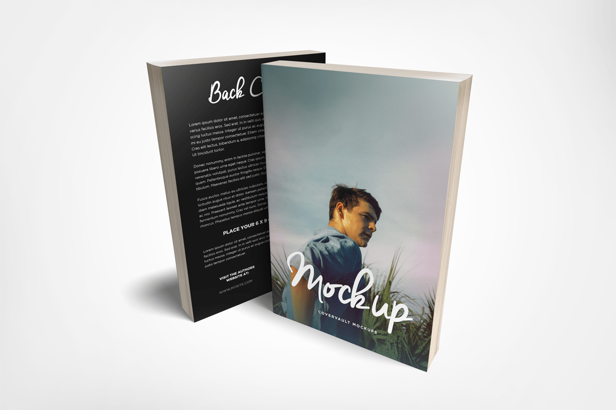 Paperback Mockup – Front and Back Covers