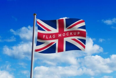 Free Country Flag Mockup