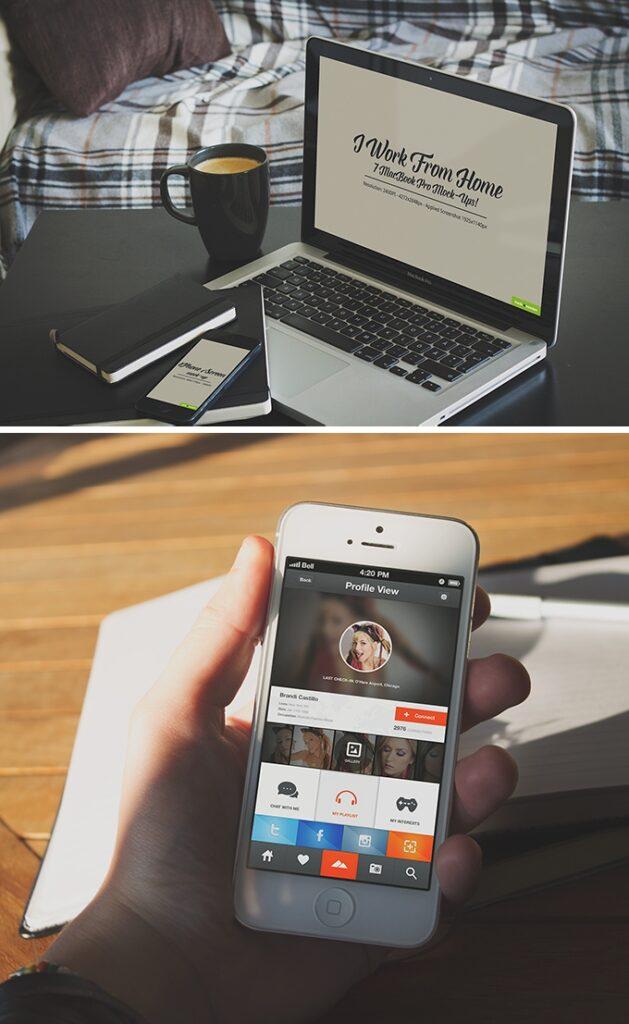 Free MacBook Mockup (PSD)