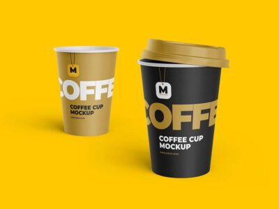 Disposable Tea and Coffee Cup Mockup