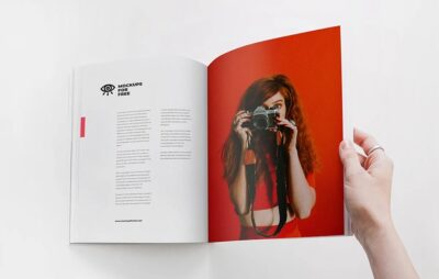 Free Fashion Magazine Mockup