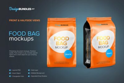 Food Bag Packaging Mockup