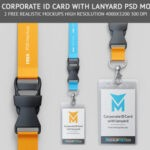 Free Corporate ID card Mockup