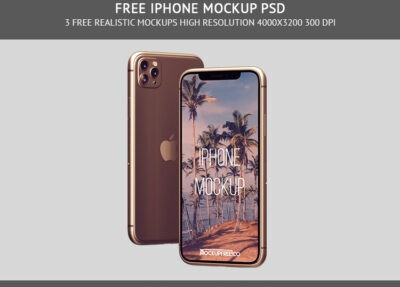 iPhone Mockup PSD template