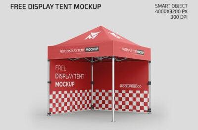 Free Tent Mockup PSD
