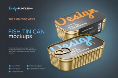 Free Tin Can PSD Mockup