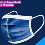 Free face mask cover Mockup
