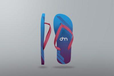 Free PSD flip-flop mockup