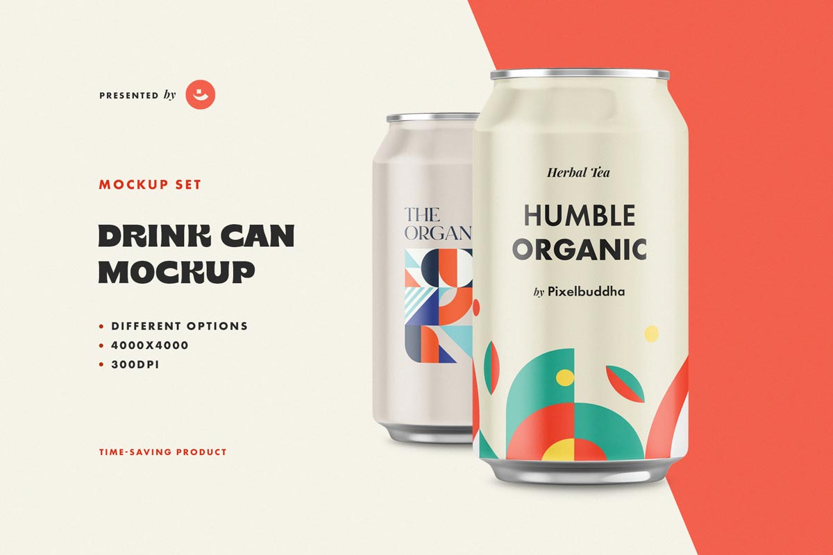 Aluminum Drink Can Mockup