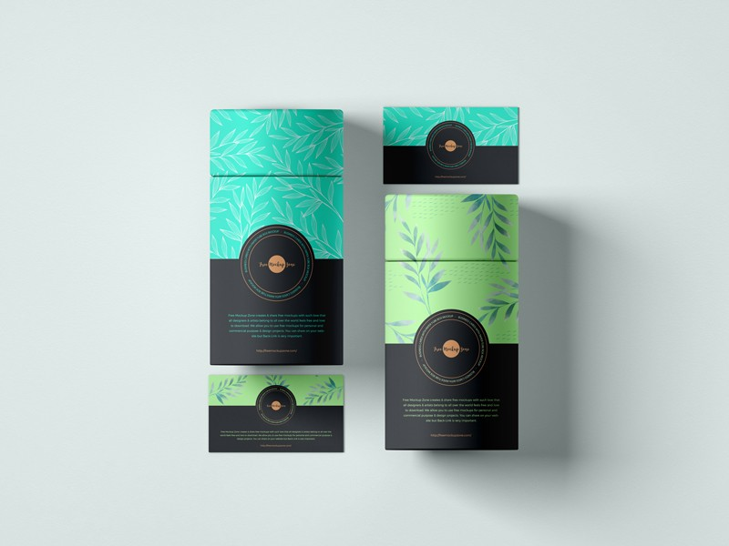 Business Card with Paper Tube Mockup