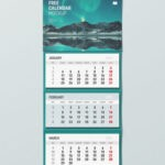 Free Hanging Calendar PSD Mockup