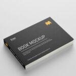 Landscape paper book Mockup