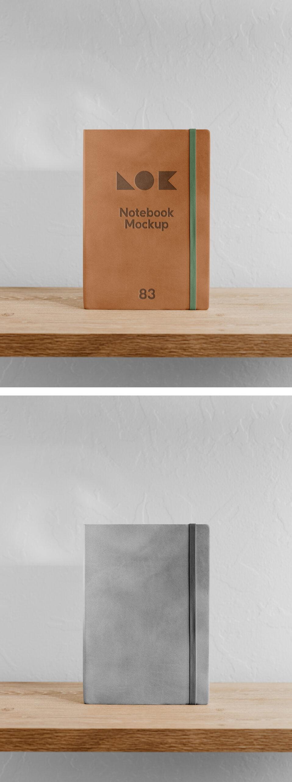 Free Office Notebook Mockup