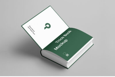 Free Open Book PSD Mockup