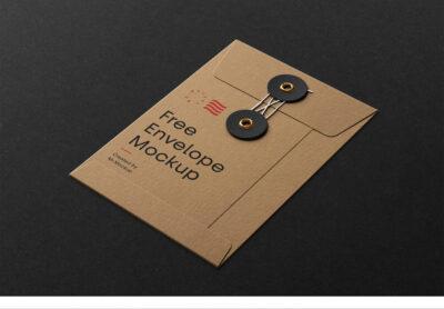 Free Paper Envelope Mockup