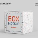 Free Paper Box Mockup