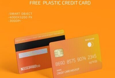 Free Plastic Credit Card Mockup