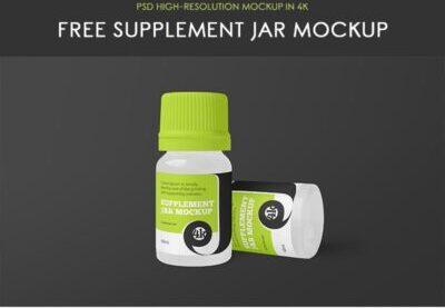 Free Medicine Jar Mockup