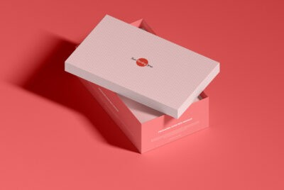 Free Shoebox packaging template PSD mockup