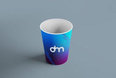 Free paper coffee cup branding mockup