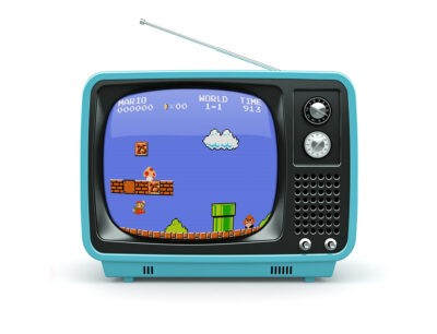 Free Old TV Mockup file