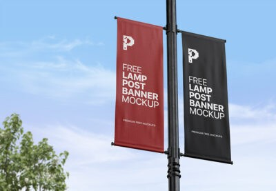 Best Lamp post mockup PSD