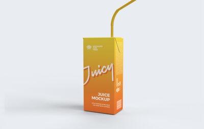 Free PSD Juice pack Mockup