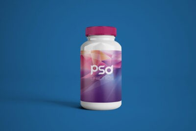 Free plastic pill bottle mockup
