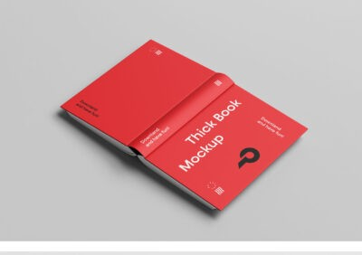 Free Cover Book PSD Mockup