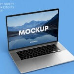 Free Laptop with Keyboard Mockup