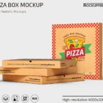Free Pizza Box PSD Mockup