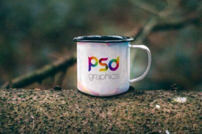 Water Mug PSD Mockup