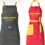 Free Kitchen Apron Mockup