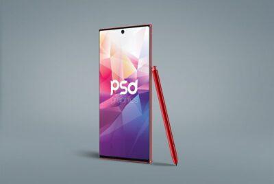 Free Samsung Galaxy Note 10 PSD mockup
