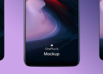 Free Oneplus6 PSD Mockup