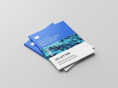 Free Open Brochure PSD Mockup